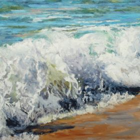 Le moutonnement de la vague / The rolling wave - 20 X 40