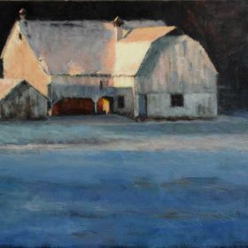 Grange en fin d'après midi / Barn in late afternoon - 18 X 24