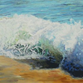 La vague se brise / The breaking wave - 20 X40