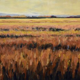 En plein champ/ In the field Huile sur toile/ Oil on canvas 12 X 24