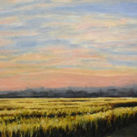 Champ de blé/ Wheat field Huile sur toile/ Oil on canvas 12 X 24